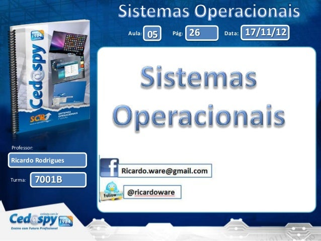 Aula:   05   Pág:   26   Data:   17/11/12Professor:Ricardo RodriguesTurma:       7001B