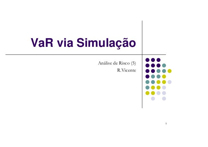 VaR via Simulação          Análise de Risco (5)                    R.Vicente                                 1