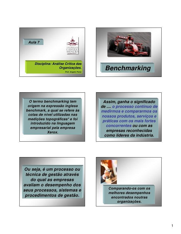 Aula 7     Disciplina: Análise Critica das                     Organizações.                         Prof. Angelo Peres   ...
