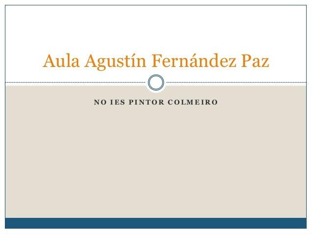 N O I E S P I N T O R C O L M E I R OAula Agustín Fernández Paz
