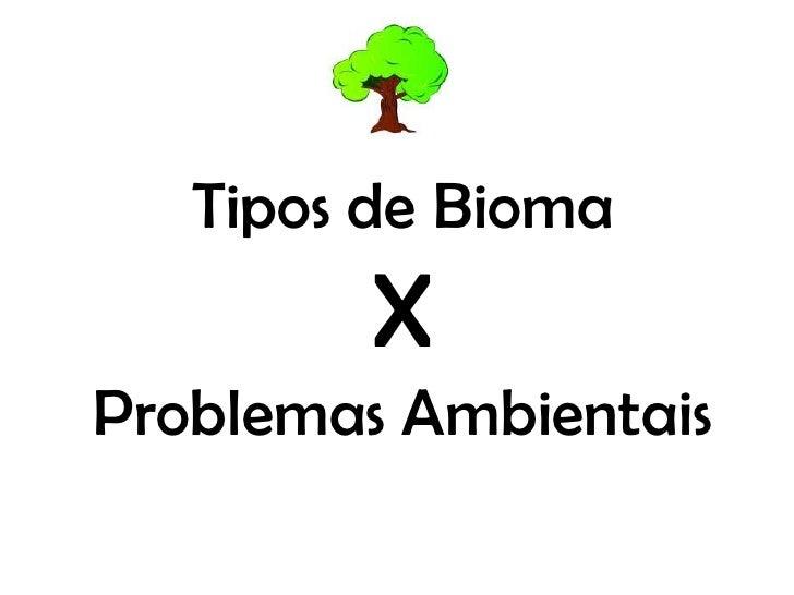 Tipos de Bioma         XProblemas Ambientais