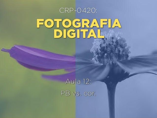 CRP-0420:  FOTOGRAFIA DIGITAL  Aula 12: PB vs. cor.