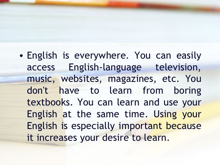 Why should I study English? Essay