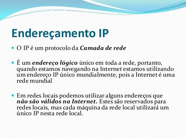 Endereço IP 1A REDES