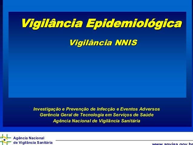 Agência Nacional de Vigilância Sanitária www.anvisa.gov.br Vigilância EpidemiolVigilância Epidemiolóógicagica Vigilância N...