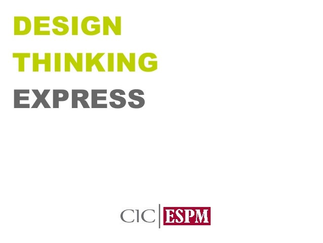 Aula Desing Thinking Express - ESPM