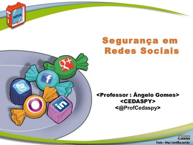 Aula II  redes sociais- CEDASPY MANAUS
