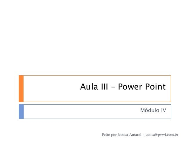 Aula I - Power Point