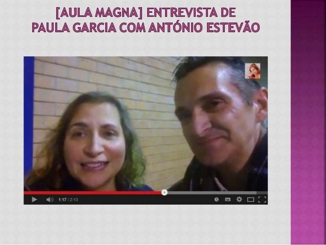 Nesta entrevista com o António Estevão na Aula Magna falámos sobre o dia maravilhoso que tivemos na companhia de mais de 1...