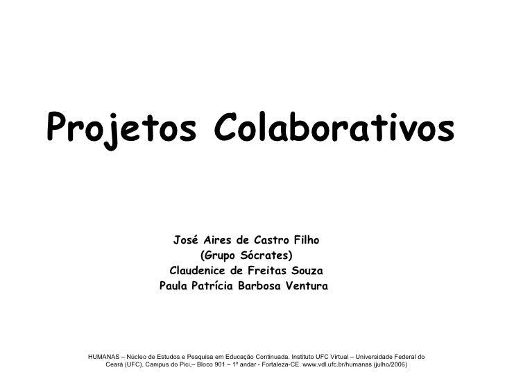 Aula Projetos Colaborativos