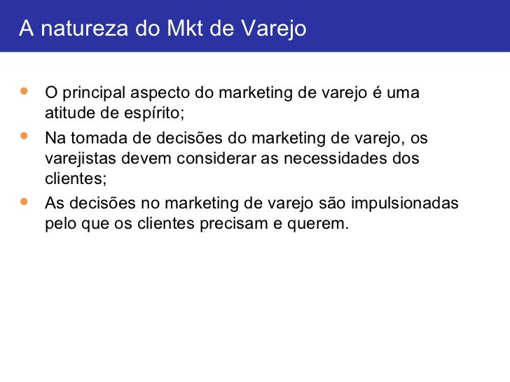 Aula Marketing de Varejo - Professor Robert - 02-03-2012