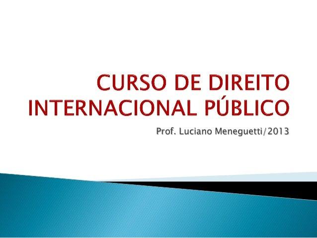 Aulas de Direito Internacional Público