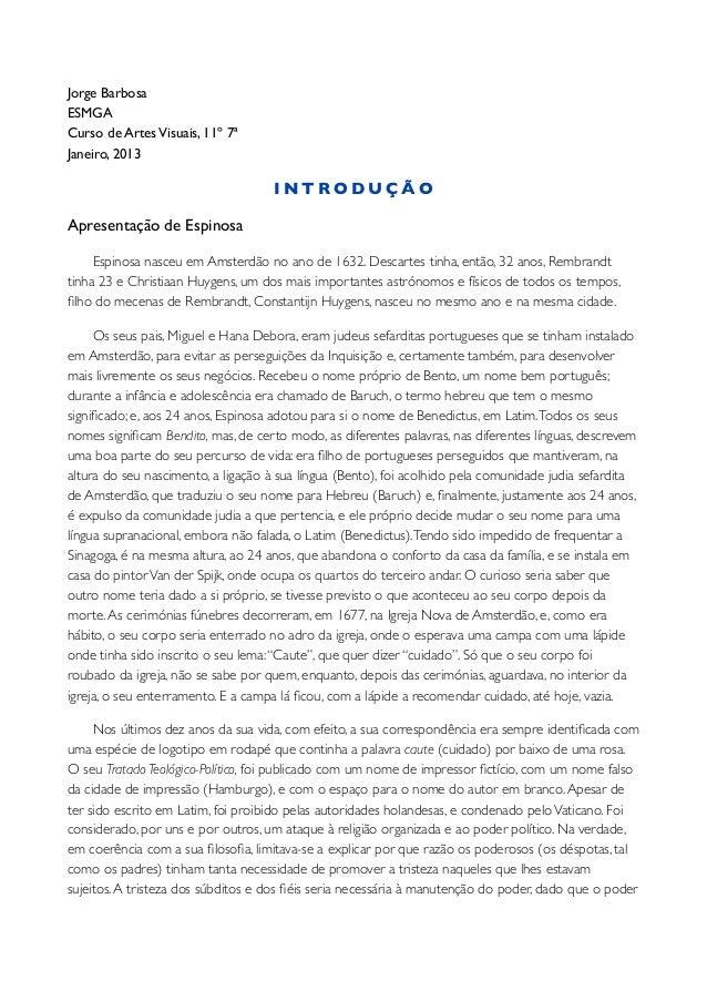Jorge BarbosaESMGACurso de Artes Visuais, 11º 7ªJaneiro, 2013                                     INTRODUÇÃOApresentação d...