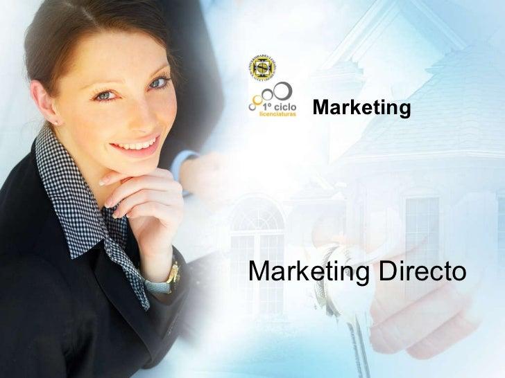 Marketing Marketing Directo