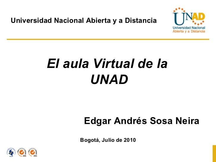 Aula virtual de la unad