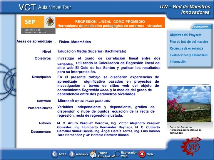 VCT Aula Virtual Tour                                                                   ITN – Red de Maestros             ...