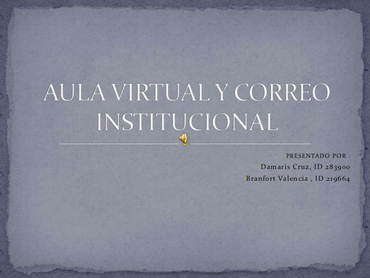 Aula virtual y correo institucional