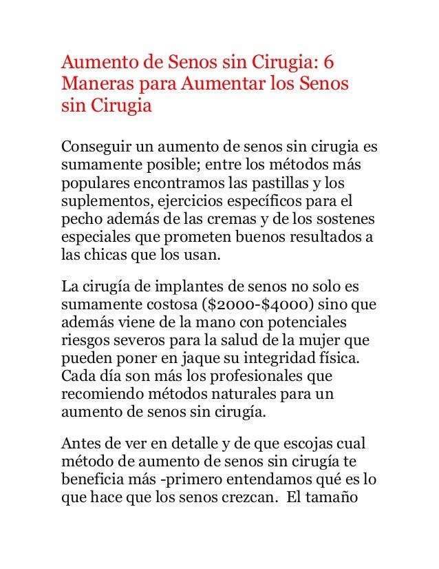 Aumento de Senos sin Cirugia: 6 Maneras para Aumentar los Senos sin Cirugia Conseguir un aumento de senos sin cirugia es s...