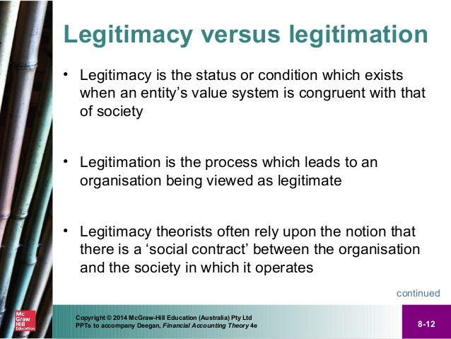 using legitimacy theory to explain voluntary disclosures Accounting theory in order to explain the voluntary employee disclosures on lonmin's annual companies using legitimacy theory for example, patten.
