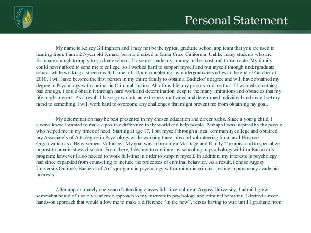 Forensic psychiatry personal statement