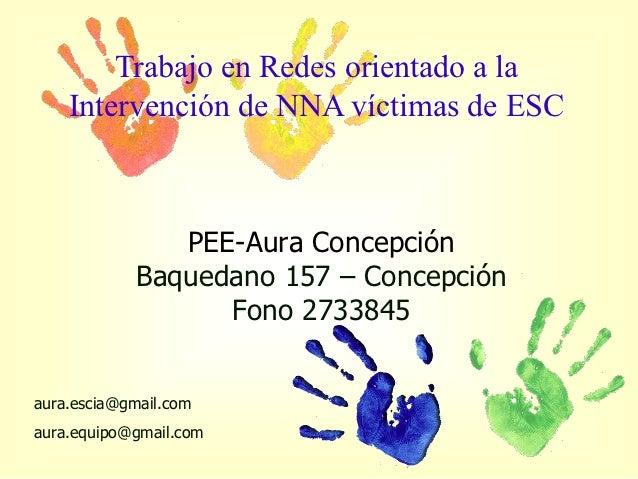 Trabajo en Redes orientado a la    Intervención de NNA víctimas de ESC               PEE-Aura Concepción            Baqued...