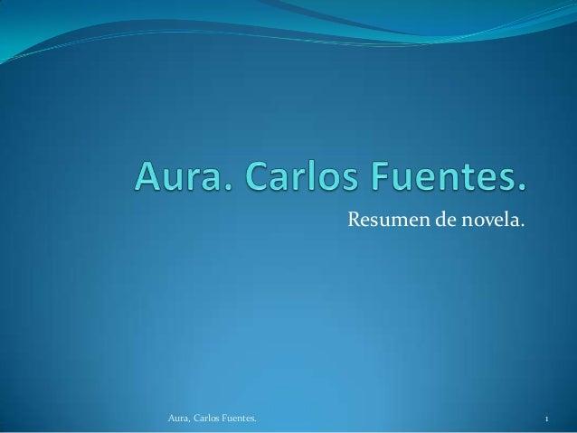 Resumen de novela.  Aura, Carlos Fuentes.  1