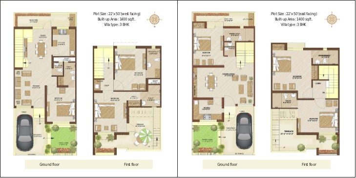My little indian villa 32r25 3bhk duplex in 40x60 west for Floor plans under 150 000