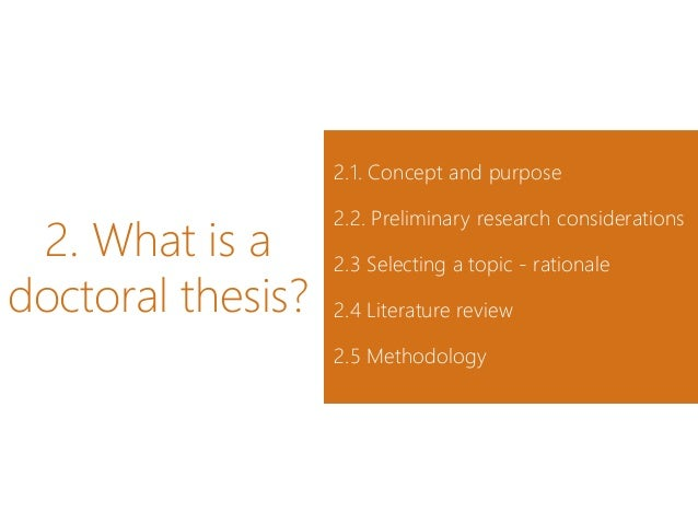 Doctoral thesis research project