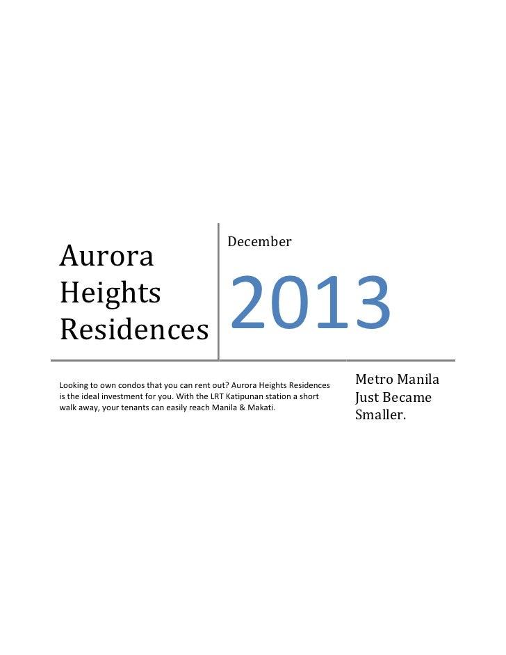 Aurora Heights Residences
