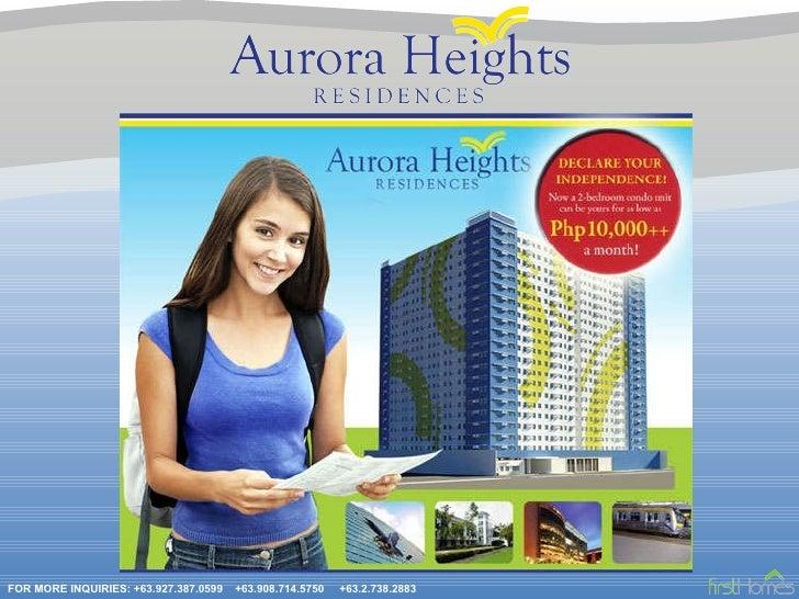 Aurora Heights Residences Presentation