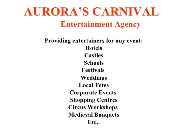 Aurora's carnival various acts
