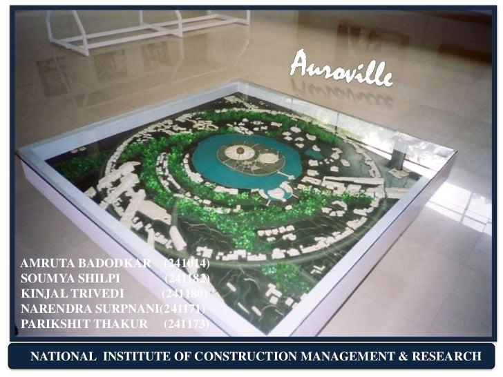 Auroville - City Planning