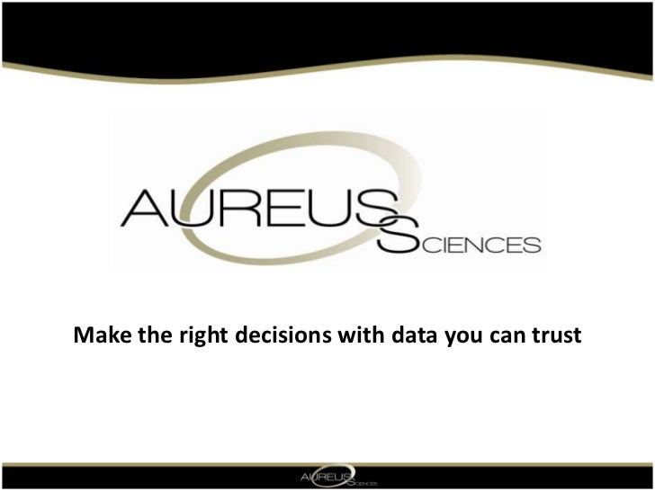 Make the right decisionswith data youcan trust<br />