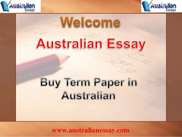 Buy term papers and essays