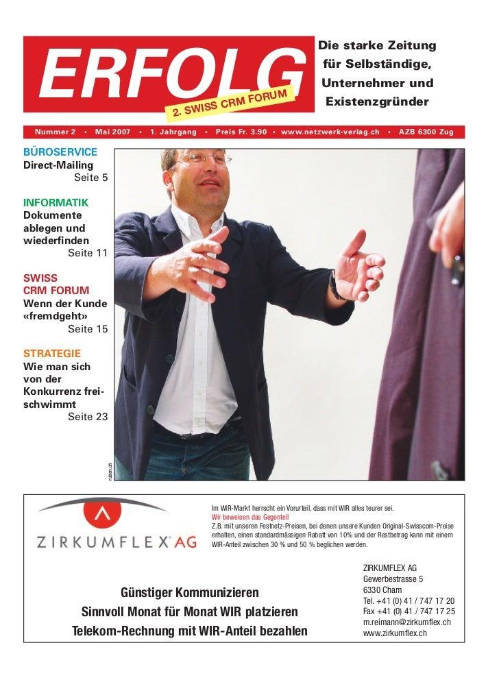 Die starke Zeitung  ERFOLG                                2. SWI                                              SS CRM FO   ...