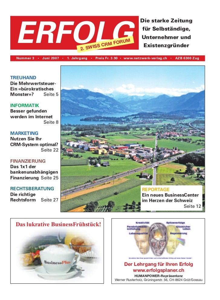 Die starke Zeitung  ERFOLG                                2. SWI                                              SS CRM      ...