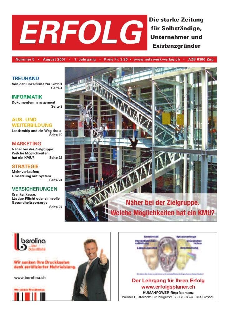 Erfolg Ausgabe 05/2007 vom 10. August 2007