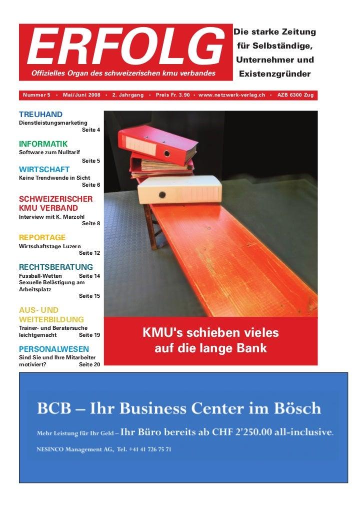 Erfolg Ausgabe 05/08 vom 28. Juni 2008
