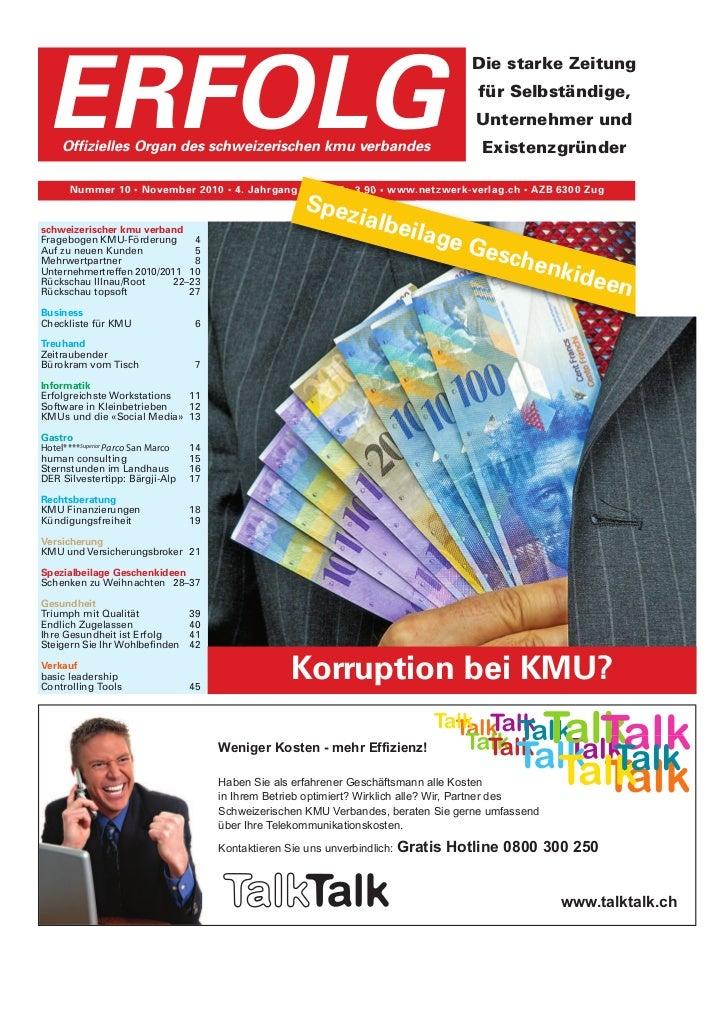 Erfolg Ausgabe 10/2010 vom 29.10.2010