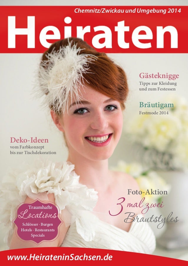 Magazin Heiraten in Chemnitz/Zwickau in 2014