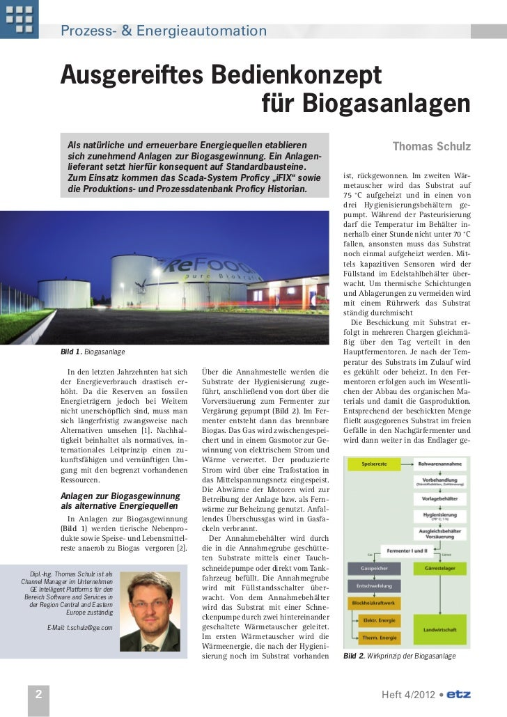 Prozess- & Energieautomation               Ausgereiftes Bedienkonzept                               für Biogasanlagen     ...