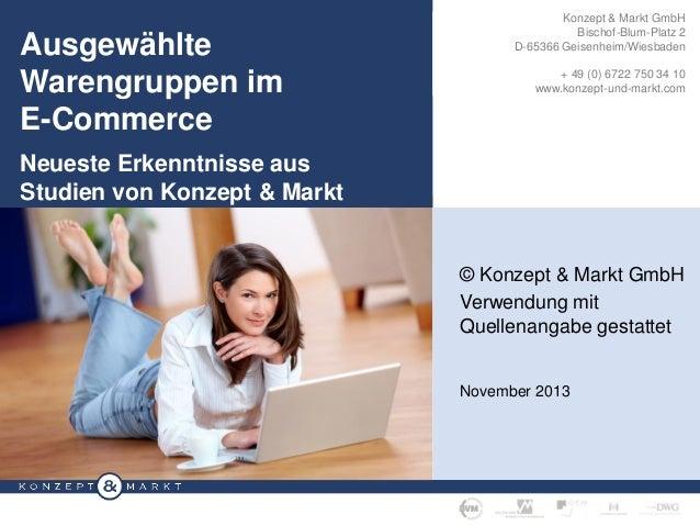 /W Ausgewählte  Individuelle Konzepte Warengruppen im  Konzept & Markt GmbH Bischof-Blum-Platz 2 D-65366 Geisenheim/Wiesba...
