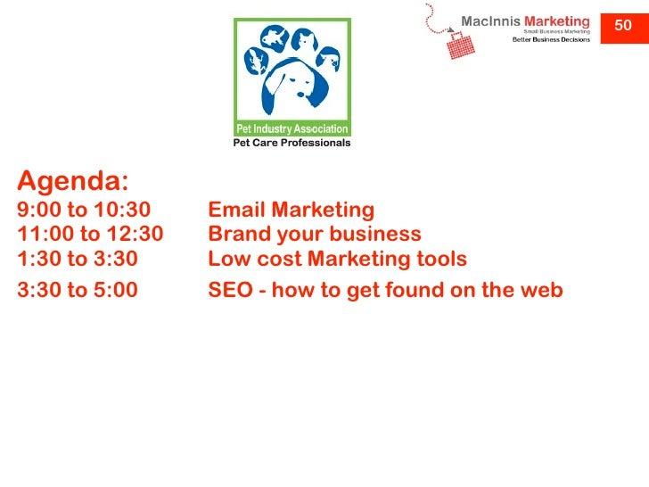 Ausgroom marketing presentations