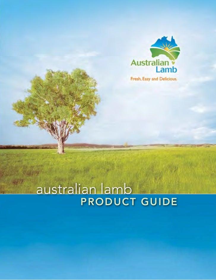 australian lamb      p roduct guide