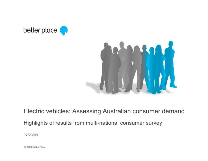 Electric vehicles: Assessing Australian consumer demand Highlights of results from multi-national consumer survey  07/23/0...
