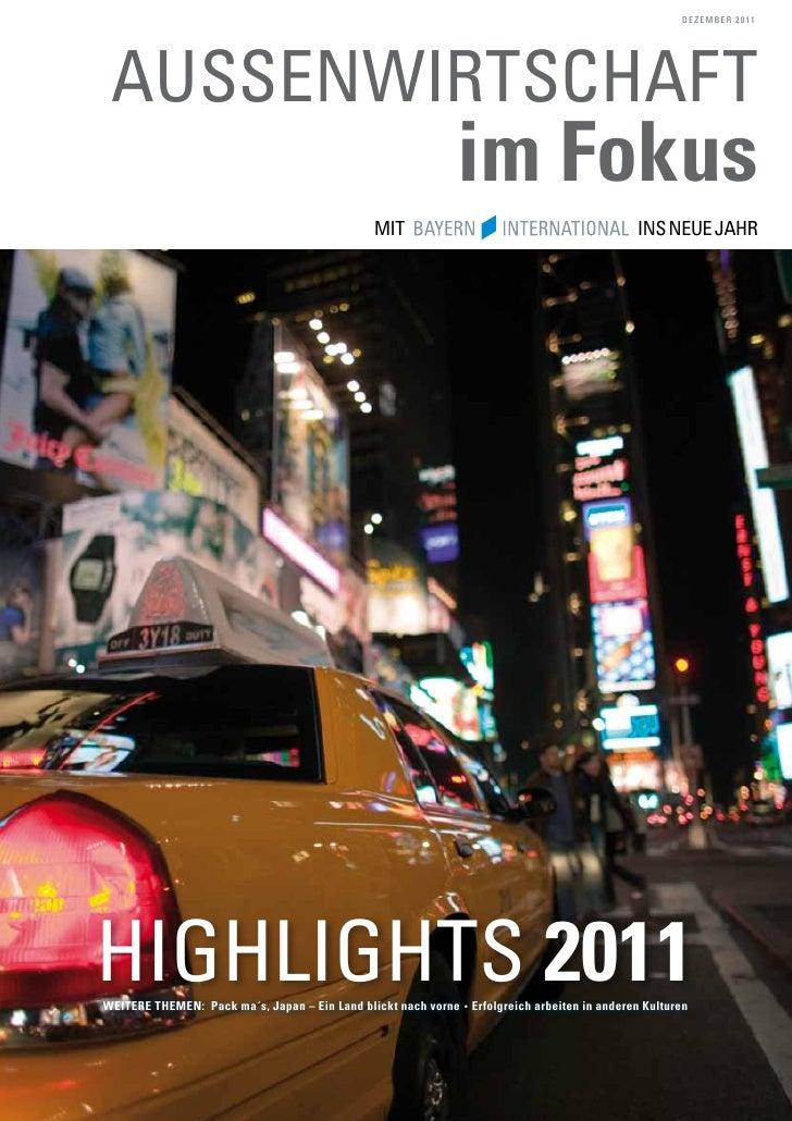 Aussenwirtschaft im Fokus 2011