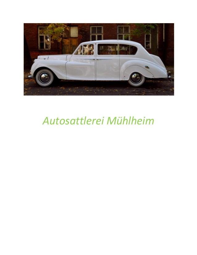 Autosattlerei Mühlheim