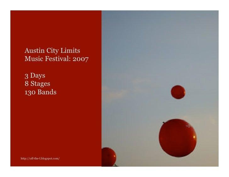 Austin City Limits Music Festival 2007