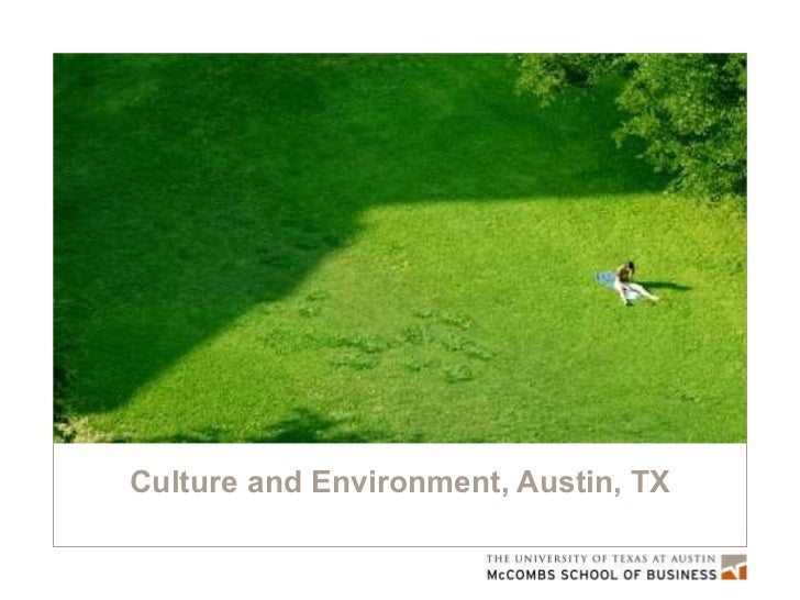 Culture and Environment, Austin, TX