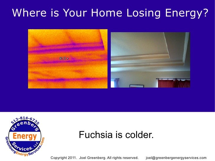 Where is Your Home Losing Energy?                Copyright 2011. Joel Greenberg. All rights reserved.                     ...